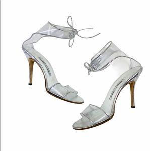 Manolo Blahnik Clear Heels 37.5